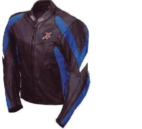 ixs pantera lederjacke gr 48 schwarz blau wei motorrad touring sport reduziert. Black Bedroom Furniture Sets. Home Design Ideas